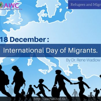 18 December: International Day of Migrants.