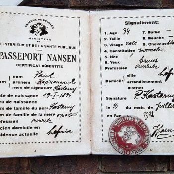 The First Nansen Passport: The League of Nations and Those Whose State Disappeared.